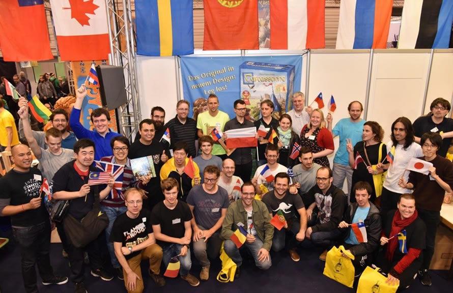 Učesnici Carcassonne World Championship 2017 na Essen Spiel 2017. Foto: Hans im Glück